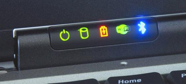 обазначение лампочек на панели ноутбука